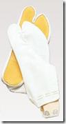 ゴム底付き足袋(白)
