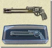 拳銃タイピン銀-右