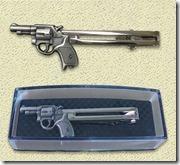 拳銃タイピン銀-左
