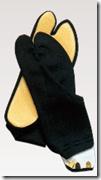 ゴム底付き足袋(黒)