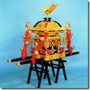 高級京型(一重台輪通し屋根)神輿